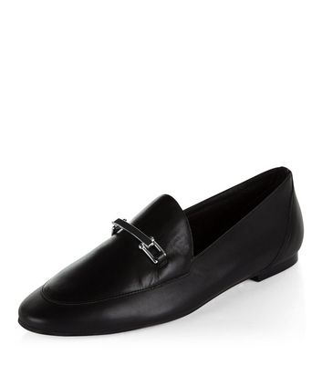 Mocassini  donna Black Premium Leather Loafers