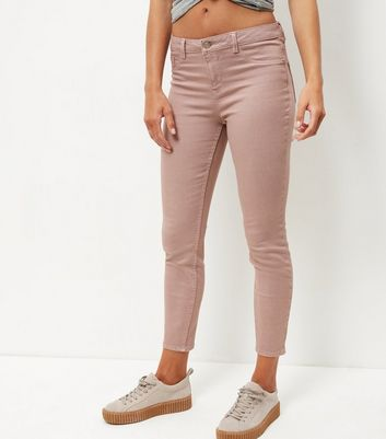 Shell Pink Ankle Grazer Skinny Jeans
