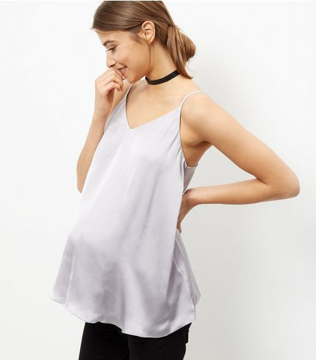 Maternity Grey Satin Cami | New Look