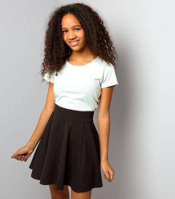 teens-black-skater-skirt