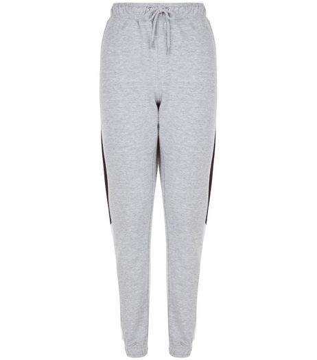 Heartbreak Grey Contrast Side Panel Joggers | New Look