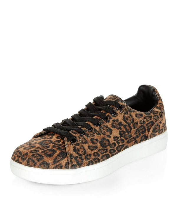 Image result for new look leopard print trainer