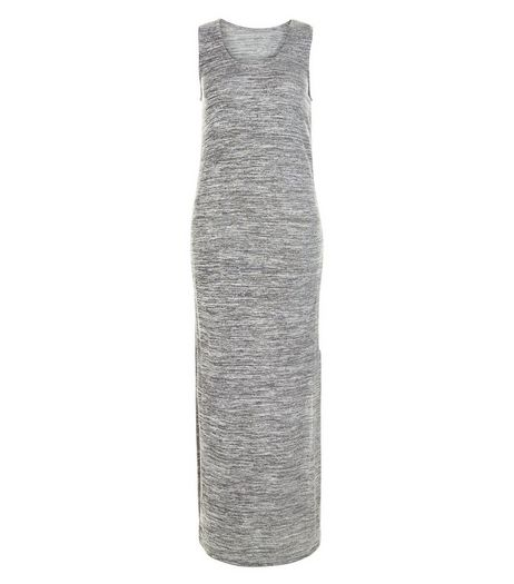 Apricot Grey Split Side Maxi Dress | New Look