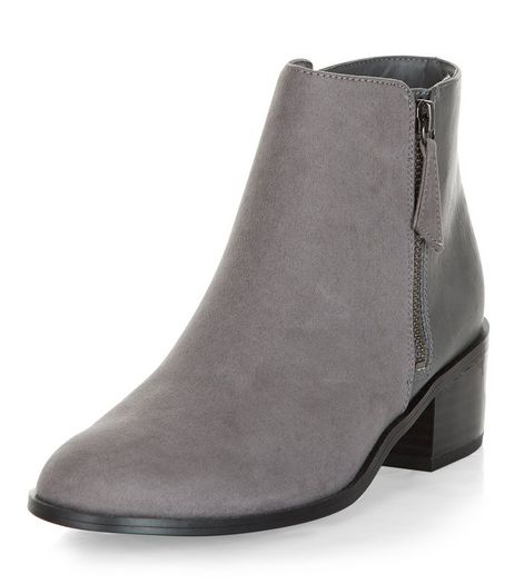 Grey Comfort Suedette Ankle Boots | New Look