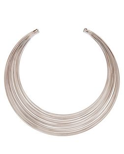 Silver Multi Band Torque Necklace | New Look