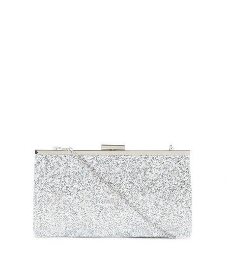 Silver Glitter Clutch | New Look