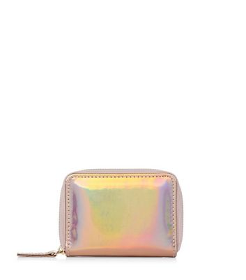 Bronze Holographic Zip Around Card Holder