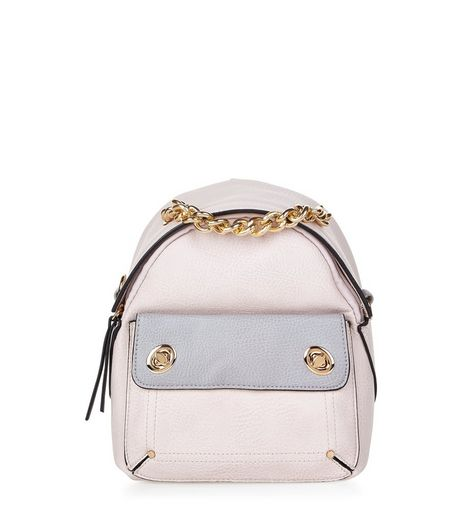 Cream Gold Chain Mini Backpack | New Look