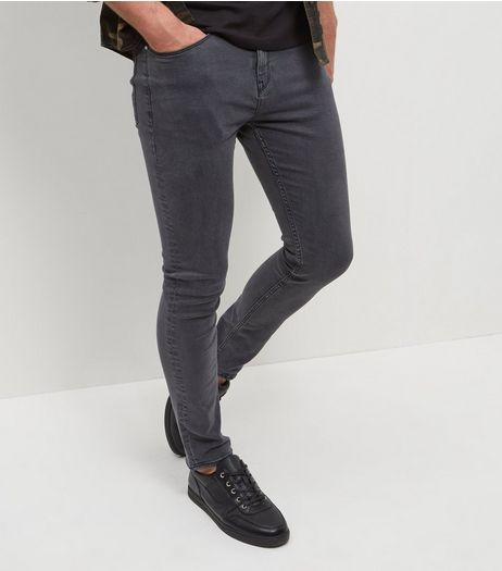 Mens Grey Jeans | Charcoal & Dark Jeans | New Look