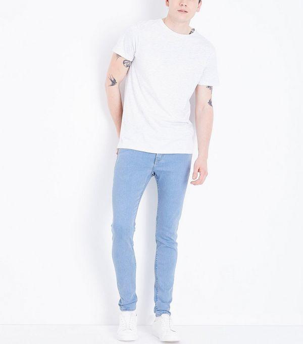 Pale Blue Light Washed Super Skinny Jeans