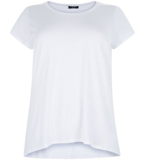 Curves White T-Shirt | New Look