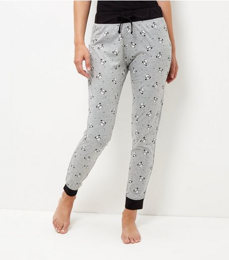 Grey Panda Print Pyjama Bottoms | New Look