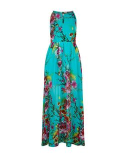 Blue Vanilla Turquoise Floral Print Sleeveless Maxi Dress | New Look