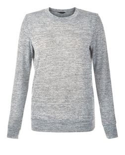 Grey Space Dye Long Sleeve Top | New Look