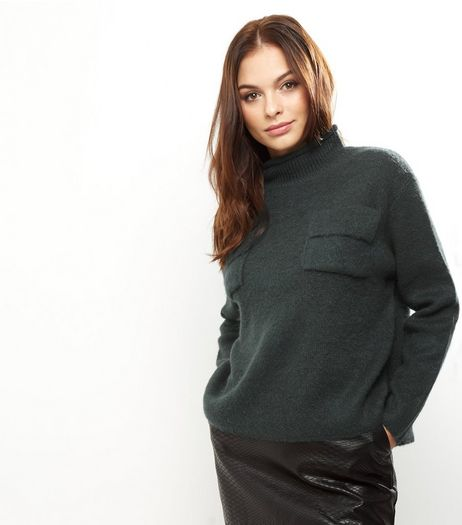 Anita And Green Dark Green Turtle Neck Jumper | New Look