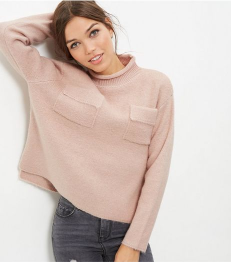Anita and Green Pink Turtle Neck Jumper | New Look