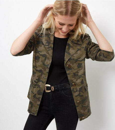 Anita and Green Khaki Camo Print Jacket | New Look