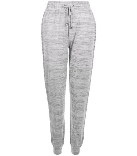 Grey Space Dye Cuffed Joggers | New Look