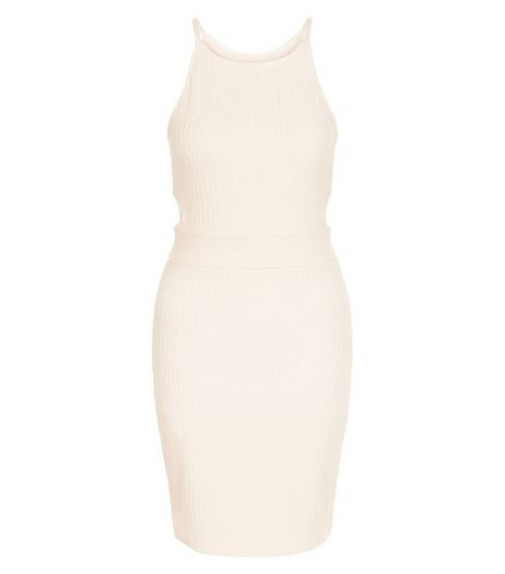 Cameo Rose Shell Pink Cut Out Side Strappy Dress | New Look