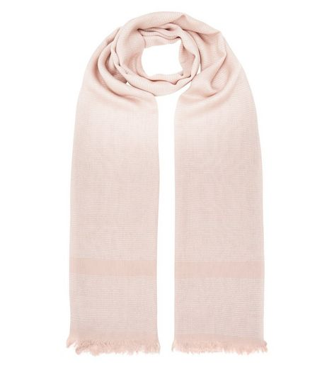 Pink Stripe Metallic Longline Scarf | New Look