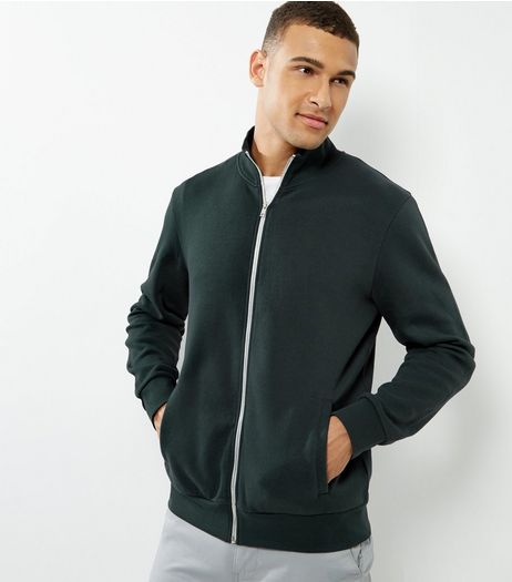 Green High Neck Zip Up Jacket | New Look