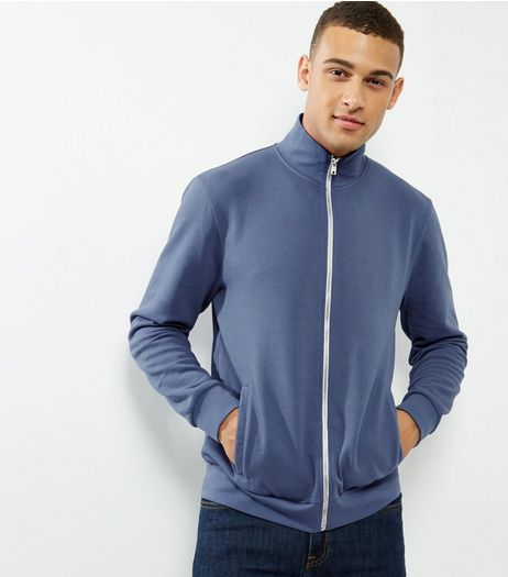 Blue High Neck Zip Up Jacket  | New Look