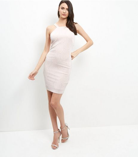 Shell Pink Cut Out Back Bodycon Dress | New Look