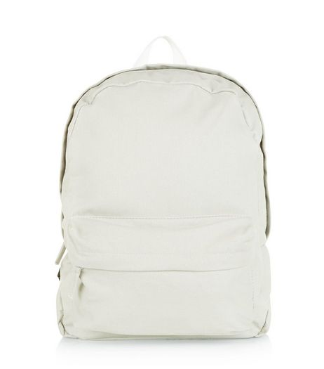 Grey Canvas Backpack  | New Look