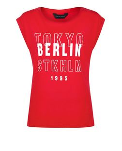 Red Tokyo Berlin Stockholm Roll Sleeve T-Shirt | New Look