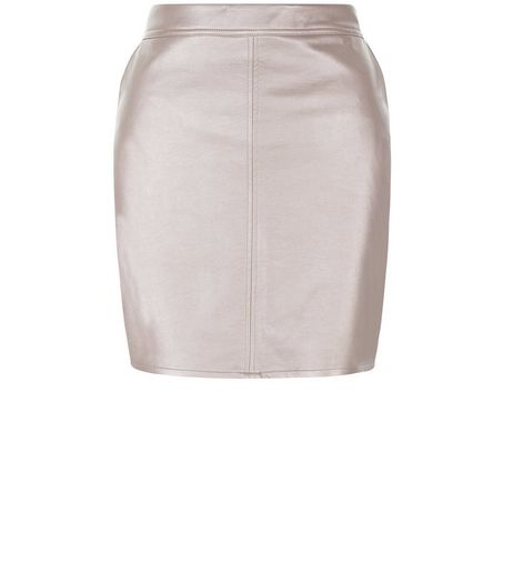 Teens Pink Metallic A-Line Skirt | New Look