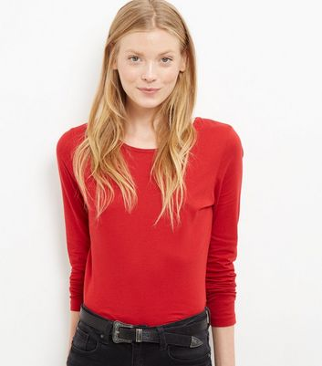 tall-red-long-sleeve-top