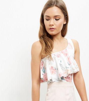 white-floral-print-frill-trim-bodysuit