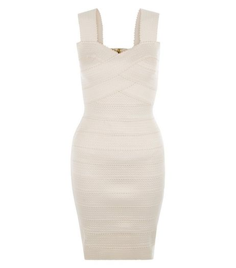 Petite Shell Pink Bandage Bodycon Dress | New Look