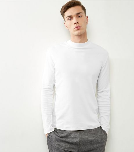 White Cotton Turtle Neck Top | New Look