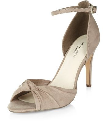 Sandalo  donna Light Brown Comfort Knotted Front Ankle Strap Heels