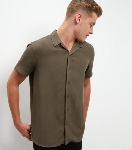 Khaki Short Sleeve Shirt  | New Look