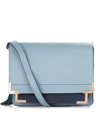 Blue Contrast Square Satchel