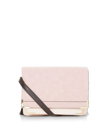 Pink Contrast Square Satchel
