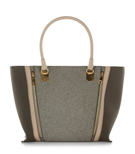 Cream Felt Tote Bag | New Look