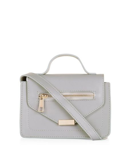 Grey Zip Mini Satchel  | New Look