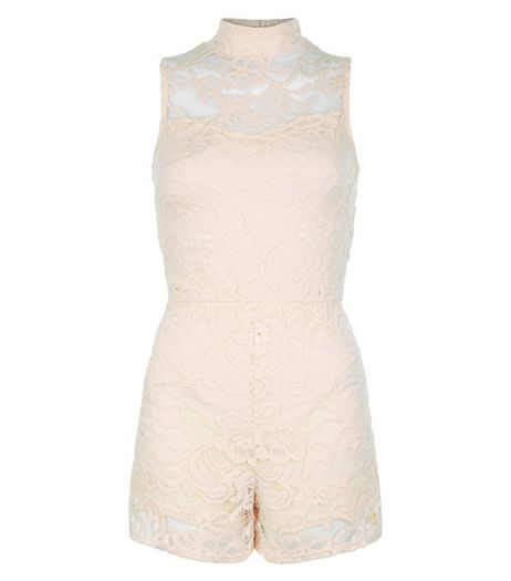 Cameo Rose Shell Pink Lace Playsuit | New Look