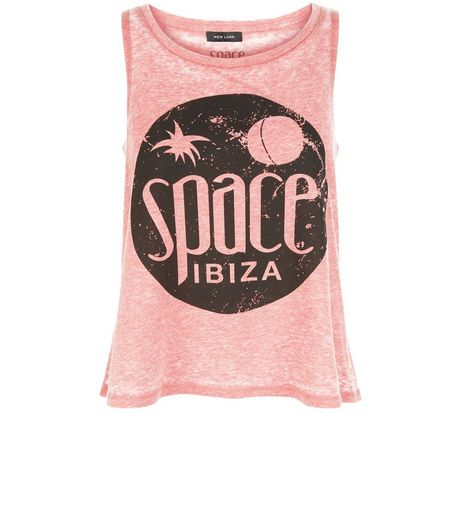 Red Burnout Space Ibiza Swing Tank Top  | New Look