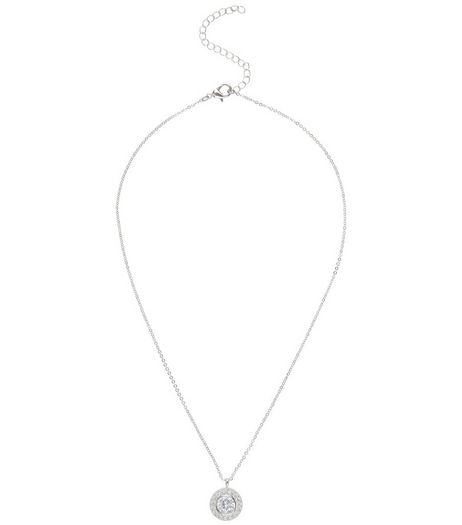 Crystal Cubic Zirconia Pendant Necklace | New Look