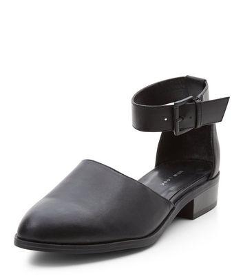Sandalo  donna Black Pointed Ankle Strap Pumps