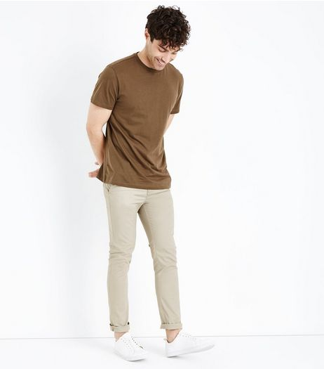 Stone Skinny Chinos | New Look