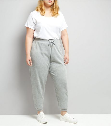 Curves Grey Joggers | New Look