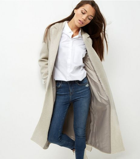 Cream Double Pocket Maxi Coat  | New Look