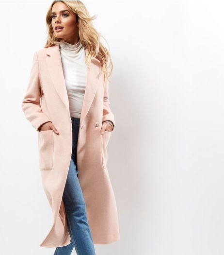 Pink Double Pocket Maxi Coat | New Look