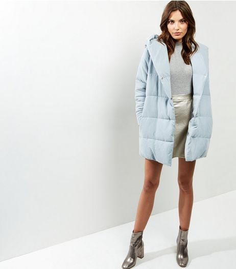 Grey Padded Hooded Puffer Jacket | New Look