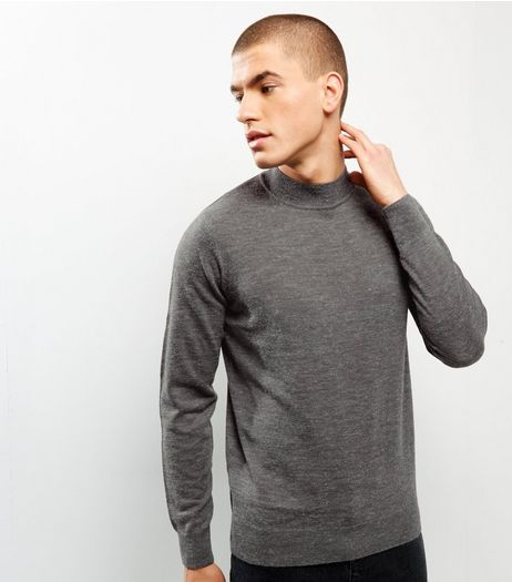 Grey Brushed Turtle Neck Jumper | New Look